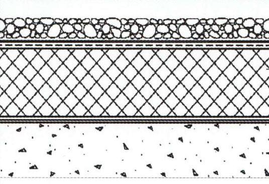 Схема балластного крепления мембраны