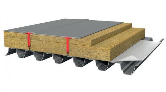 Схема механического крепления мембраны к профлисту